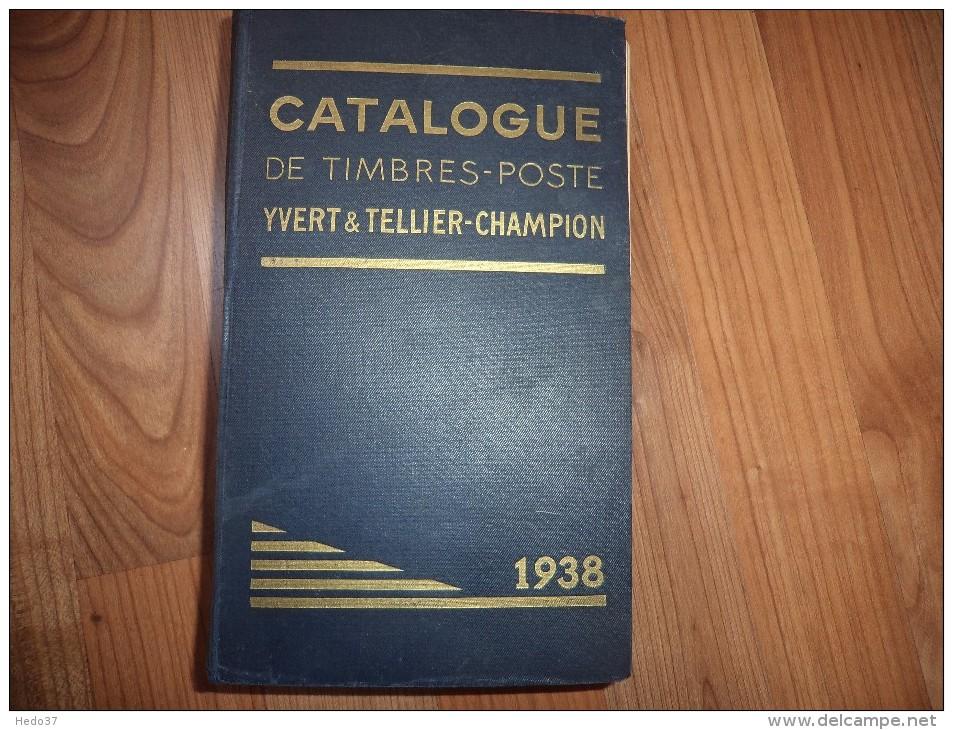 Yvert Et Tellier De 1938 - 1312 Pages - France