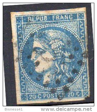 France  N° 46B Oblitérés   Départ à  5,00 Euros !! - 1870 Bordeaux Printing
