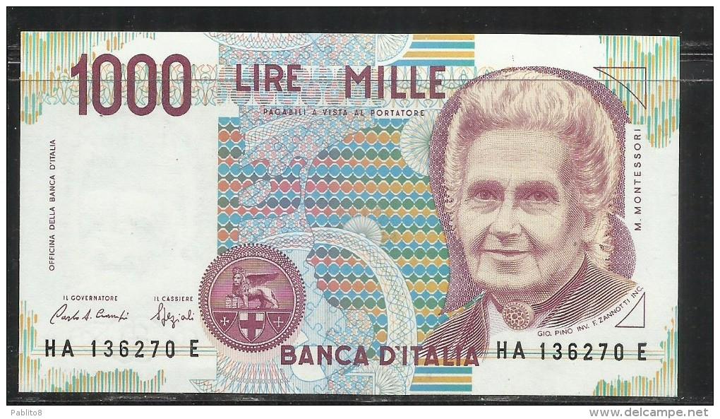 ITALIA REPUBBLICA 1990 BANCONOTA DA LIRE 1000 MONTESSORI  ITALIE ITALIEN ITALY - [ 2] 1946-… : Repubblica