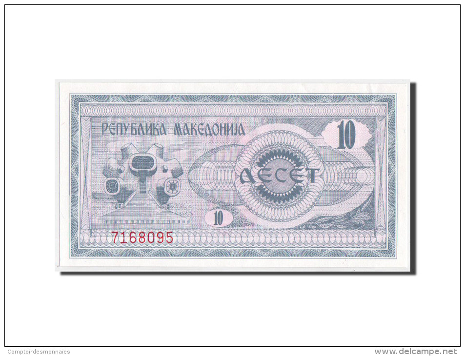 [#350534] Macédoine, 10 Denar Type 1992, Pick 1a - Macédoine