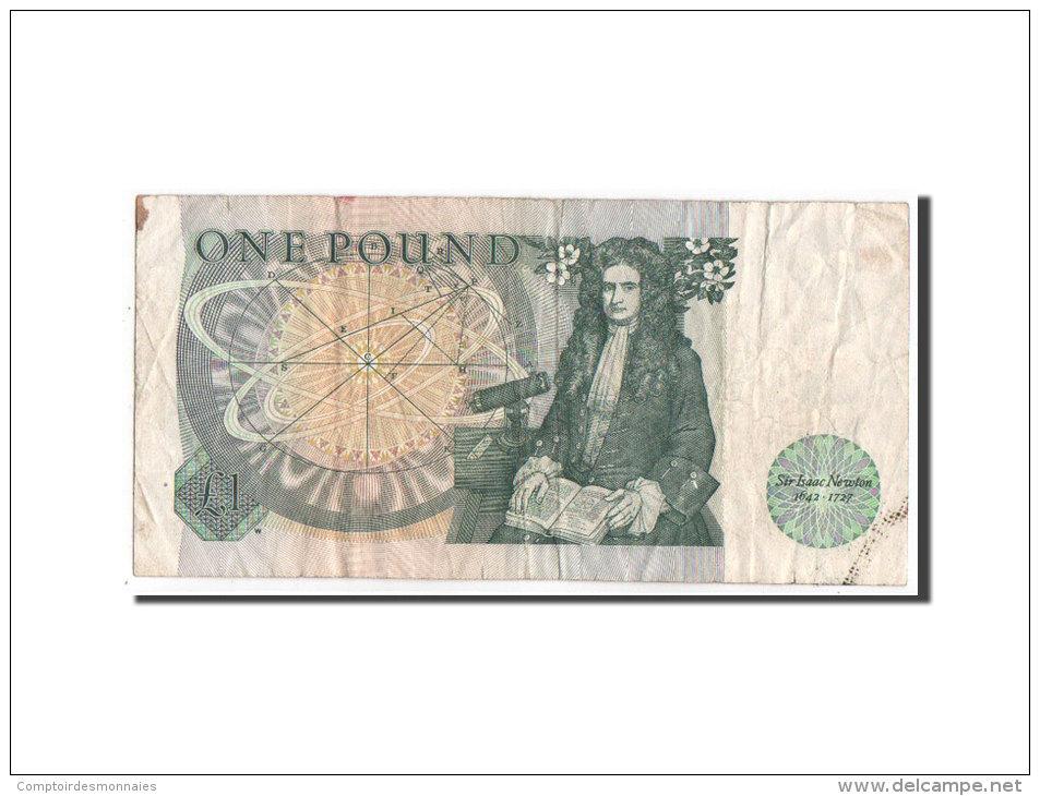 [#350545] Grande Bretagne, 1 Pound Type 1971-82 ND, Pick 377b - 1952-… : Elizabeth II