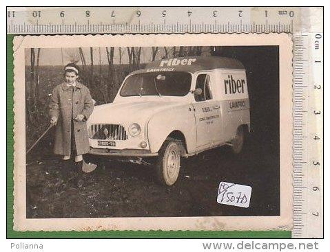 PO1507D# FOTOGRAFIA AUTO RENAULT 4 FOURGONNETTE PUBBLICITARIO LAVATRICI RIBER - Cars