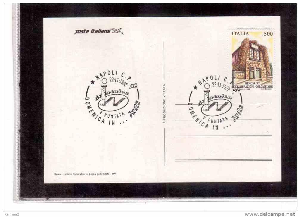 """TEM10729   -   NAPOLI  22.11.1992  /     """" DOMENICA IN ... POSTE """" - Post"""