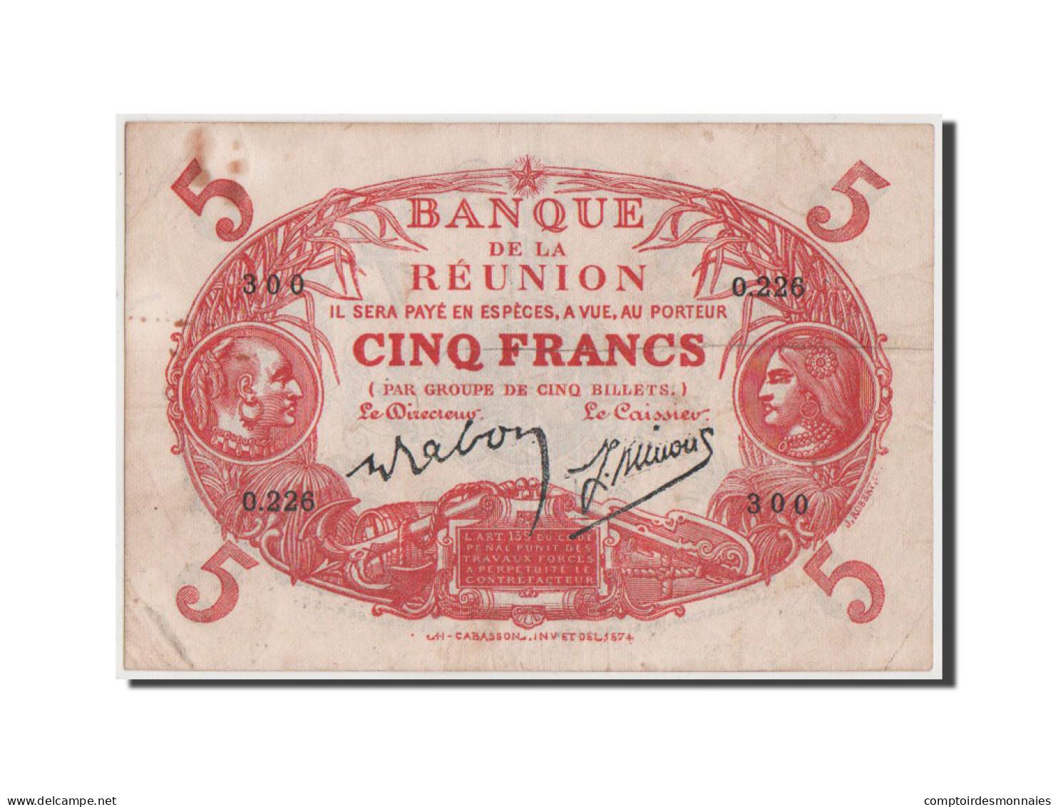 [#42736] Reunion, Banque De La Réunion, 5 Francs 1901, Pick 14 - Réunion