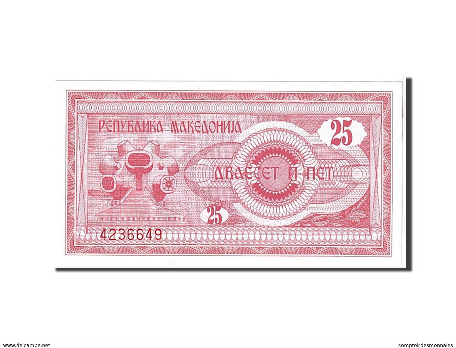 Macédoine, 25 Denar Type 1992 - Macedonia