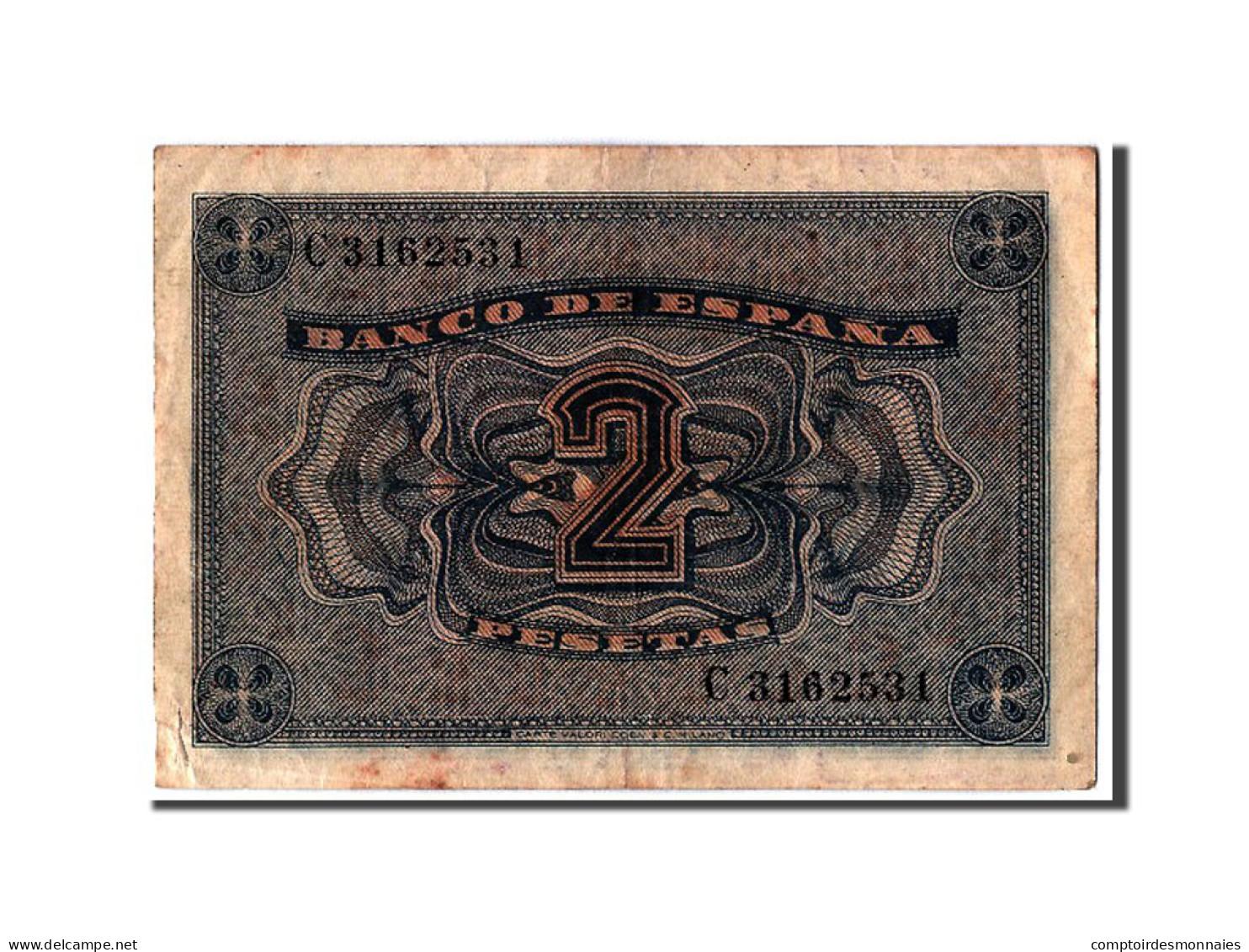[#304375] Espagne, 2 Pesetas Type 1938 - [ 3] 1936-1975 : Régence De Franco