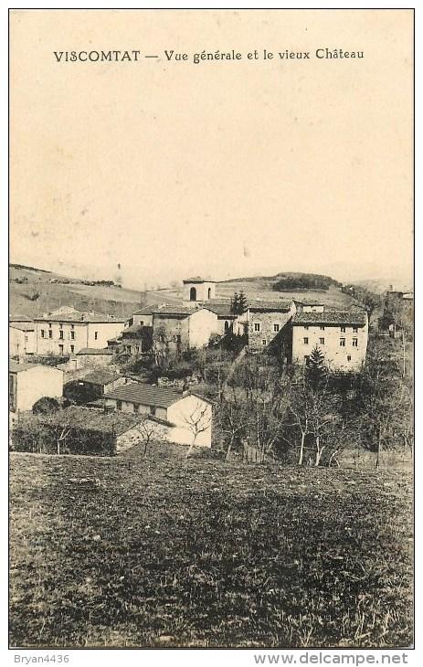 63 - Viscomtat - ** Vue Générale Et Le Vieux Château ** - Cpa - Voir 2 Scans. - Unclassified