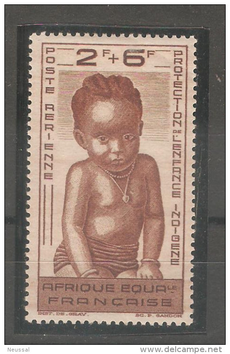 Sello Nº A-11 Africa Ecuatorial Francesa. - A.E.F. (1936-1958)