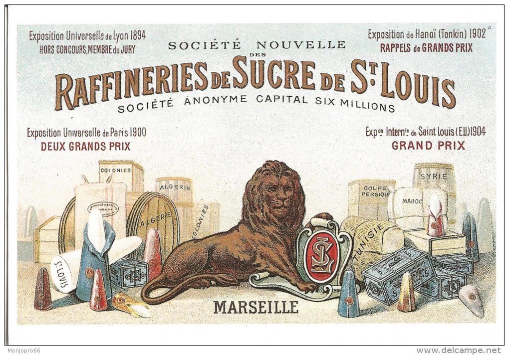 CPM De Reproduction D Affiche Publicitaire Pour Les Sucres Saint Louis-Livre D'or De 1906-Marseille Musée D' - Other