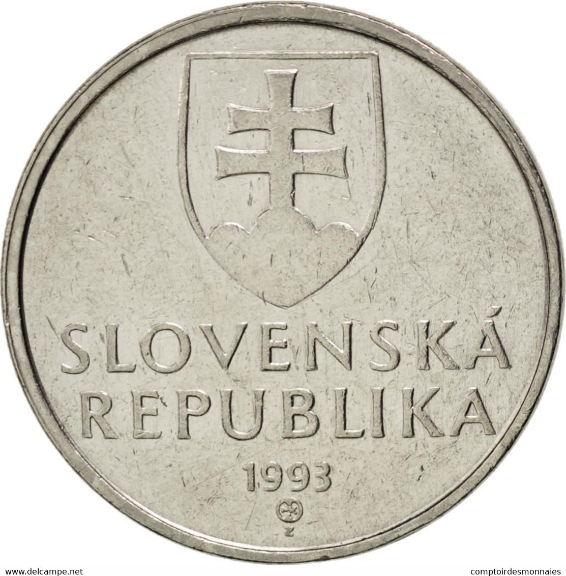 [#36637] Slovaquie, République, 5 Koruna, 1993, KM 14 - Slovaquie