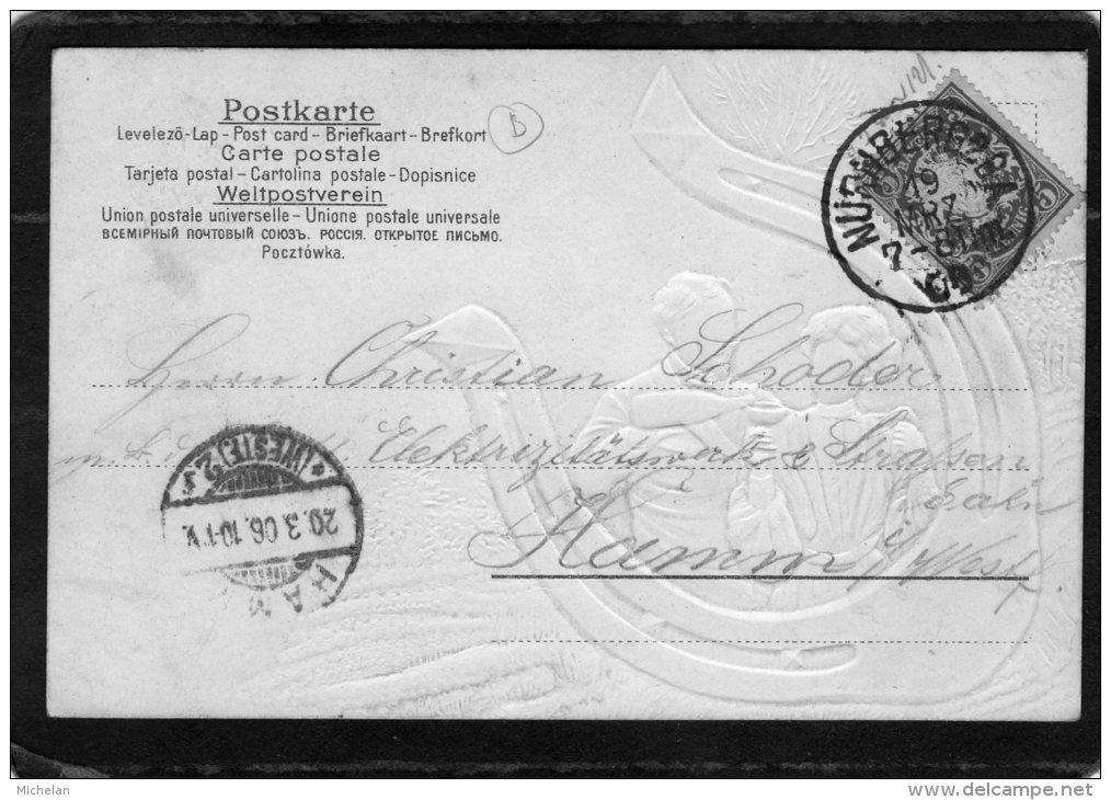 """CPA  GAUFREE     ALLEMAGNE---PROSIT---ETIQETTE"""" GUTHEIL-GCHIBER """" ?---1906 - 1900-1949"""