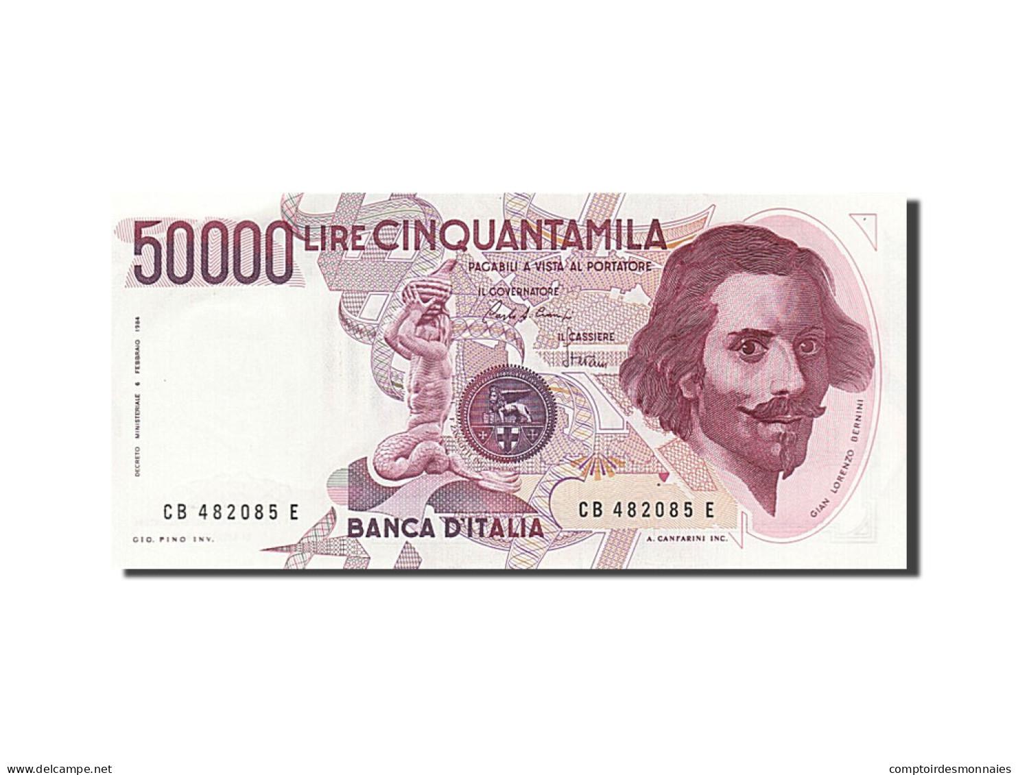 Italie, 50 000 Lire, Type Gian Lorenzo Bernini - 50000 Lire