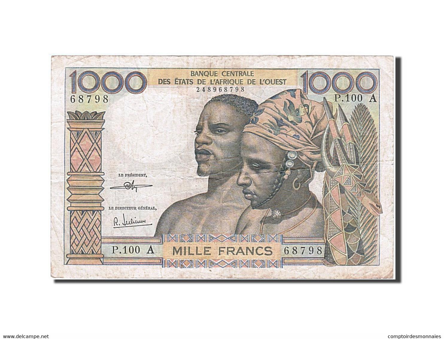 [#257864] Afrique De L'Ouest, 1000 Francs, Type 1959-1965 - Autres - Afrique