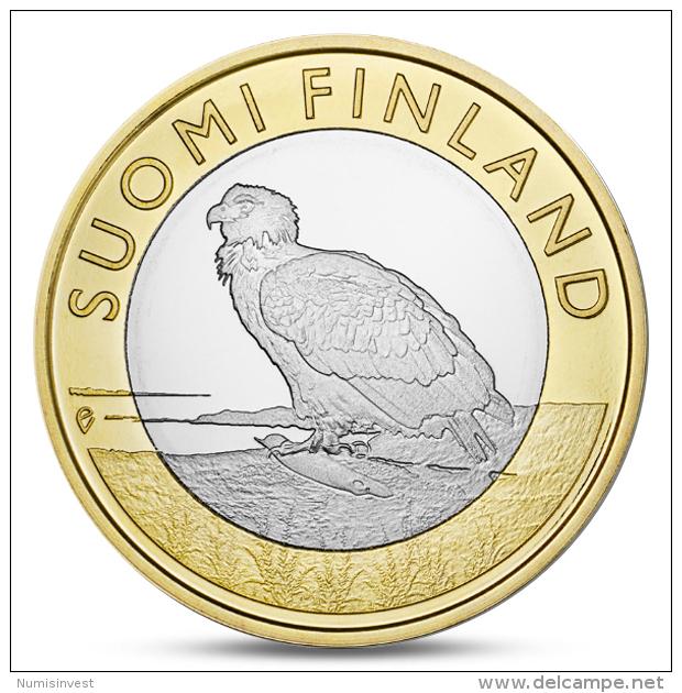 FINLAND FINLANDE FINNLAND 5 EURO ANIMALS PROVINCES - ALAND EAGLE 2014 - Finland