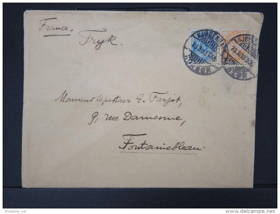 DANEMARK-  Enveloppe  De Copenhague Pour Paris En 1903     A Voir      P4389 - 1864-04 (Christian IX)