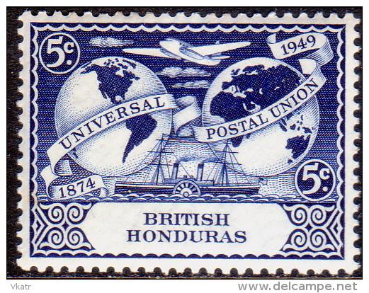 British Honduras 1949 SG #173 5c MH OG UPU - Honduras Britannico (...-1970)