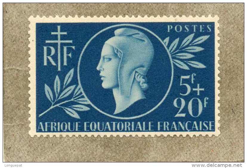 A.E.F. : Entraide Française : Profil De Femme Au Bonnet Phrygien, Croix De Lorraine, RF - - A.E.F. (1936-1958)