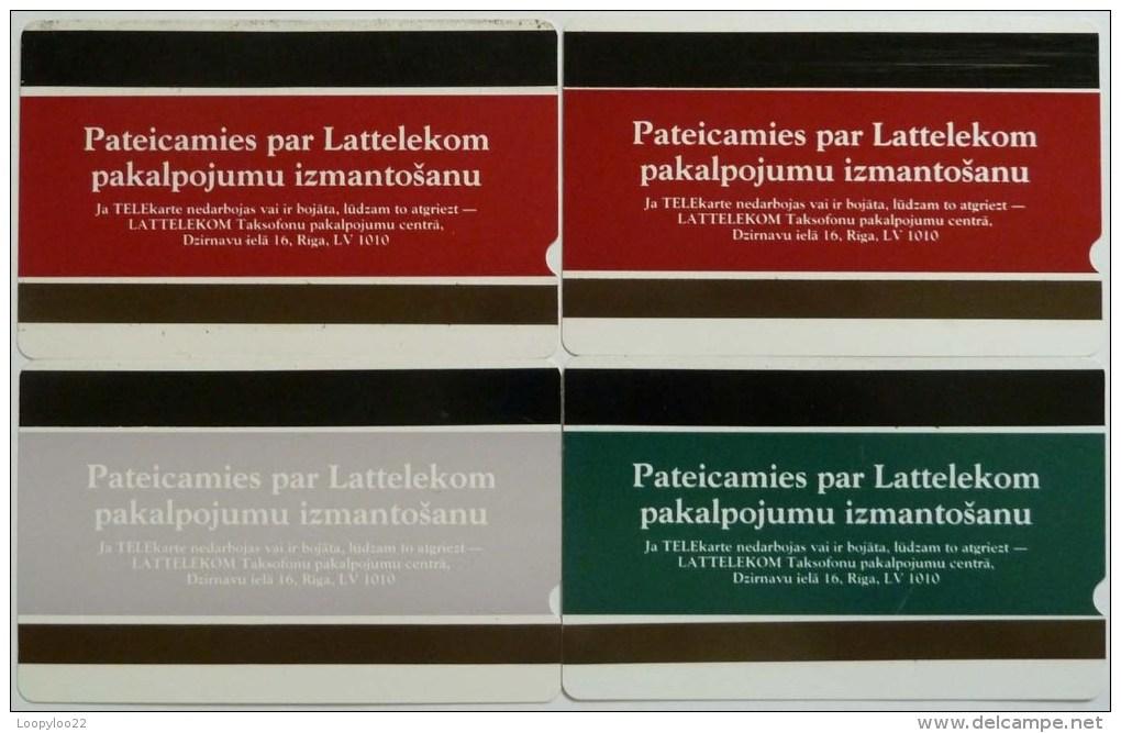 LATVIA - Set Of 4 - Lattelekom - Telekarte - Used - Lettonie