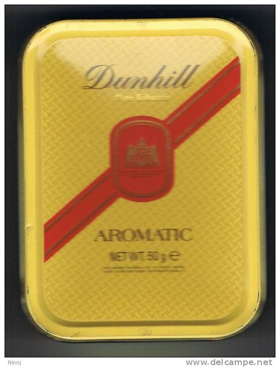 """Italia Contenitore Di Tabacco Pipa Pieno Originale, Mai Aperto In Metallo """"DUNHILL"""" AROMATIC  (Peso Lordo Grammi 112) - Boites à Tabac Vides"""