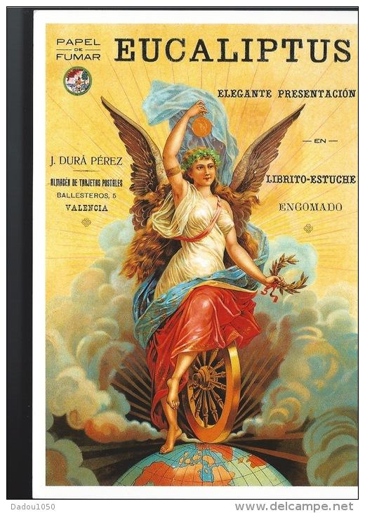 CPSM Espagne Publicité  Papel De Fumar Eucaliptus - Advertising