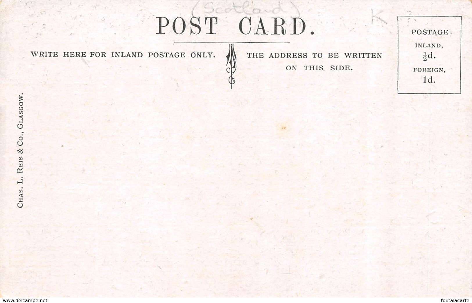 POST CARD SCOTTISH GLASGOW 209 215 ARGYLE ST - 2 AND 4 JAMAICA ST - Lanarkshire / Glasgow