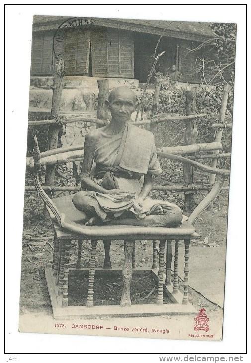 CAMBODGE... Bonze Vénéré, Aveugle - Cambodia