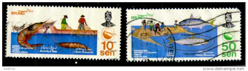 Brunei Scott N°300.301. Oblitérés - Brunei (1984-...)