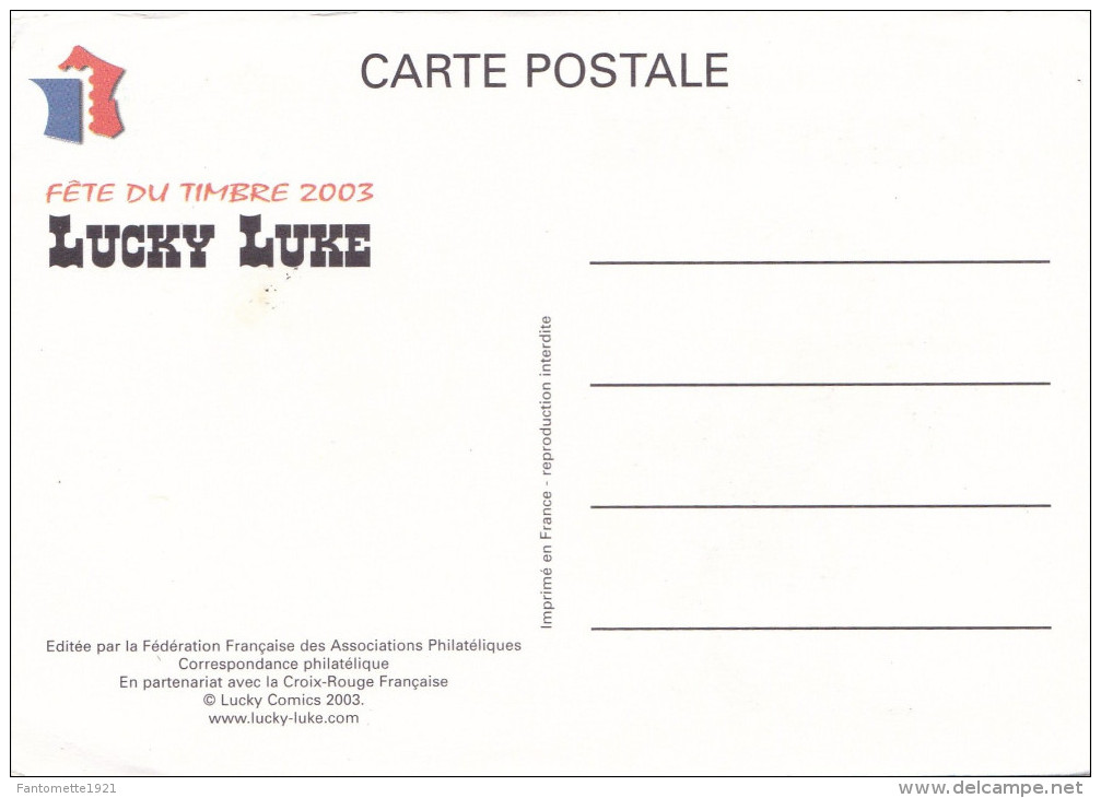 """""""LUCKY LUKE"""" FETE DU TIMBRE 2003 (chloé4) - Timbres (représentations)"""