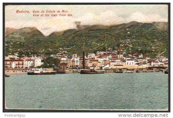 Portugal, Madeira Vista Da Cidade Do Mar 1928 - Madeira