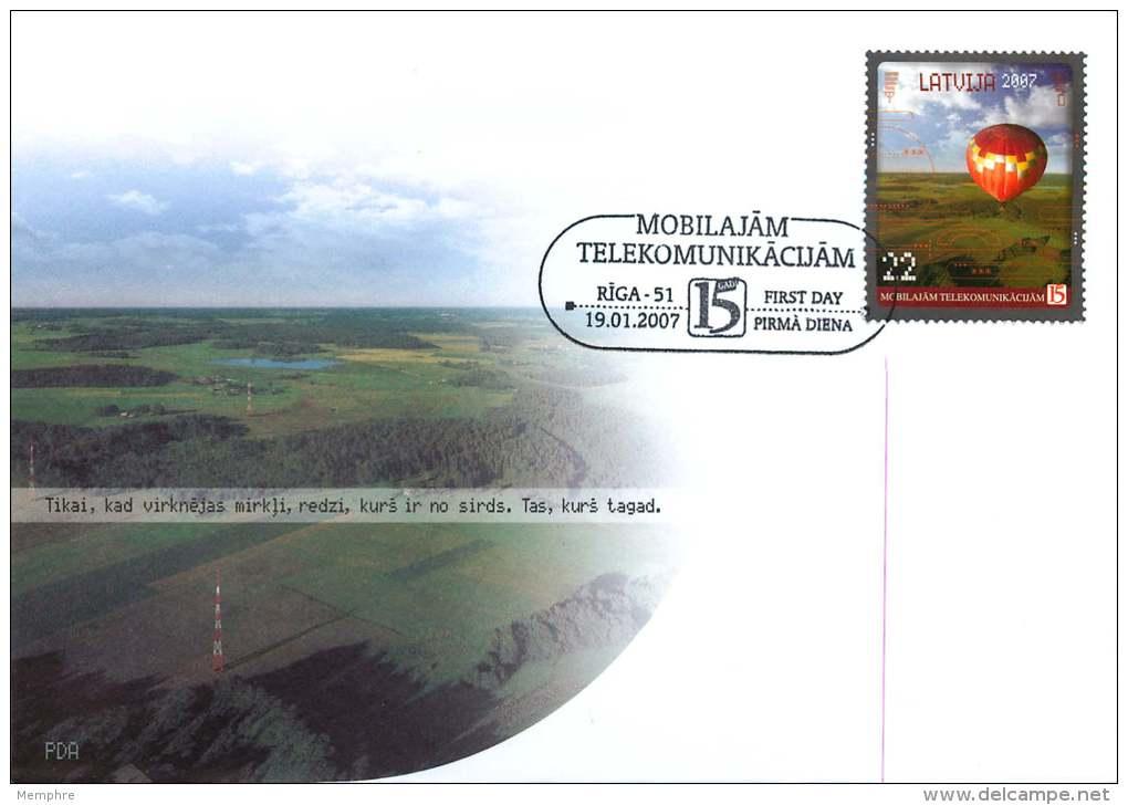2007  Entier Postal Ballon  Oblitéré Premier Jour - Lettonie