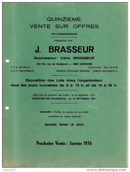 Publicité - Vente Sur Offres J. Brasseur - Verviers - 1975 - Sin Clasificación