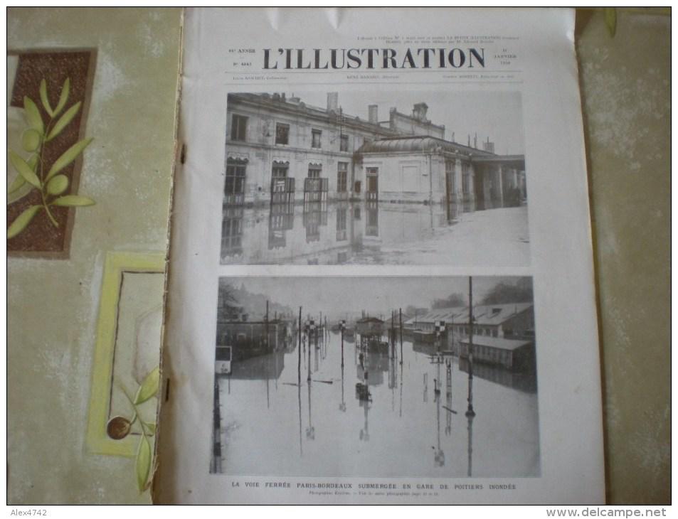 L'illustration (F), 11/1/1936, Gare De Poitiers Inondée + Sur La Route D'Addis Abeba, Aux Approches De Dessié - 1900 - 1949