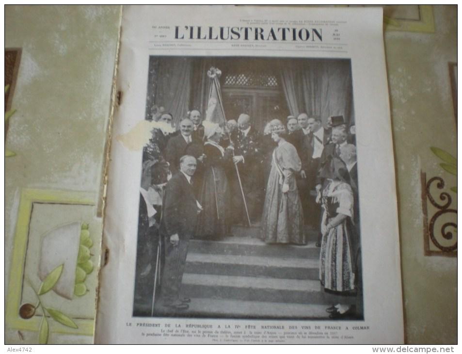 L'illustration (F), 30/5/1936, Le Président à La Fête Des Vins à Colmar + Grande Parade Miltaire Italienne à Addis Abeba - Livres, BD, Revues