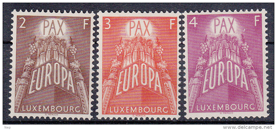 EUROPA - CEPT - Michel - 1957 - LUXEMBURG - Nr 572/74 -  MNH** - 1957