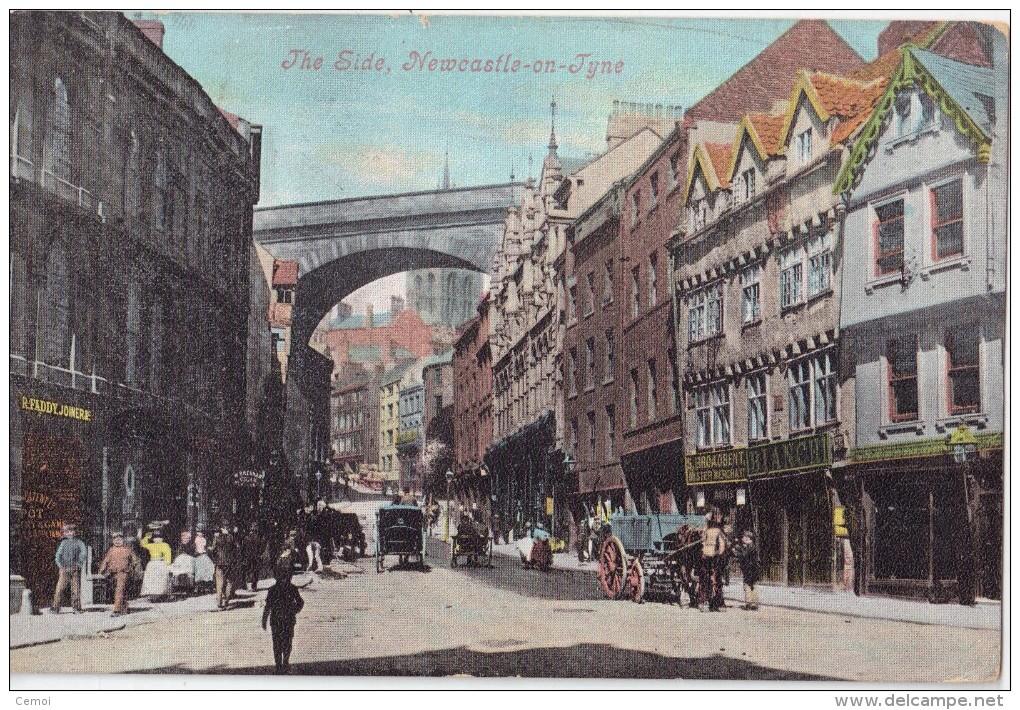 CPA Colorisée Animée - The Side, NEWCASTLE ON TYNE -1905 - Otros