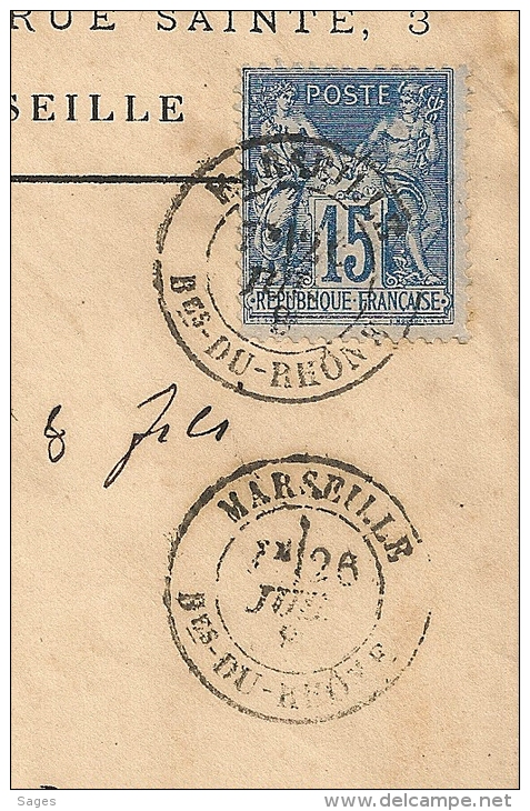 Usine Hydraulique Saint Barnabé, MARSEILLE Bouches Du Rhone Sur Enveloppe SAGE - Marcophilie (Lettres)