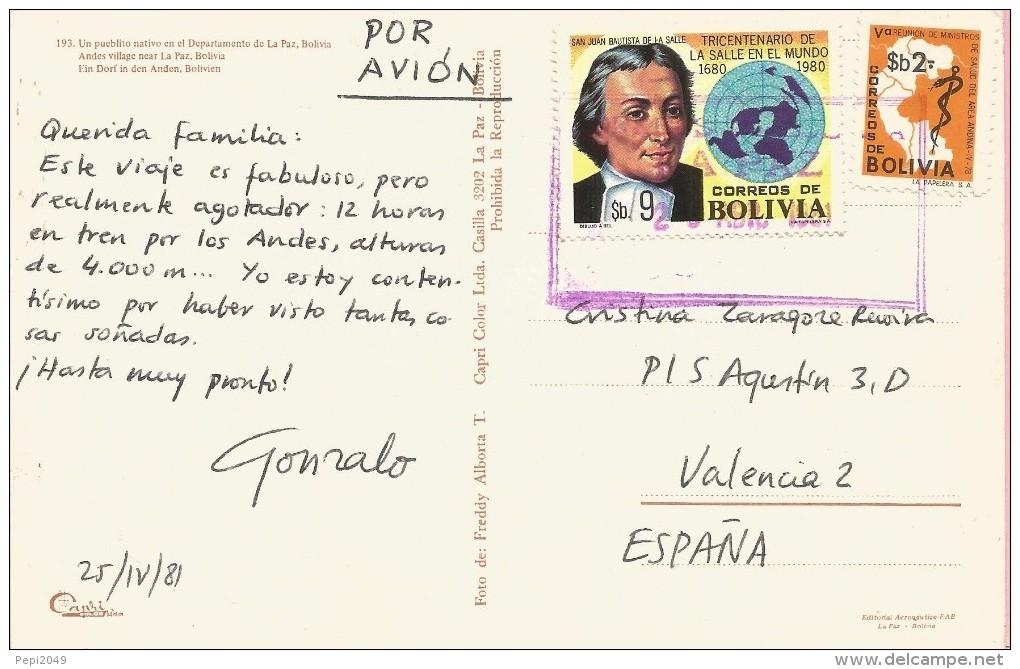 PP328 - POSTAL - UN PUEBLO NATIVO EN EL DEPARTAMENTO DE LA PAZ - BOLIVIA - Bolivia