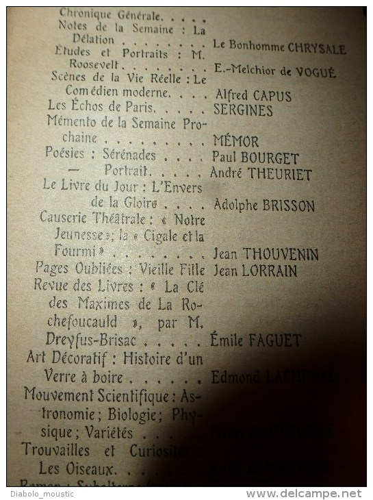 """1904 ANNALES P L  : Roosevelt Et L'arbre Géant """"Grizzly"""" Au Yellowstone Park (USA)  ;La Cigale Et La Fourmi à L'Opéra; - Newspapers"""