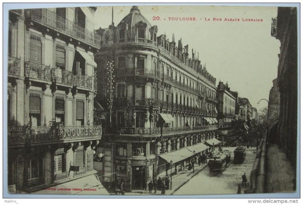 31 - TOULOUSE -  Rue Alsace - Lorraine - Animée  TRAMWAY - N°20 - Toulouse
