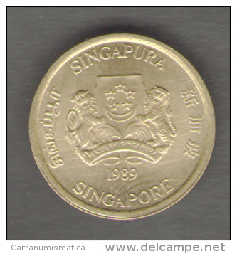SINGAPORE 5 CENTS 1989 - Singapore