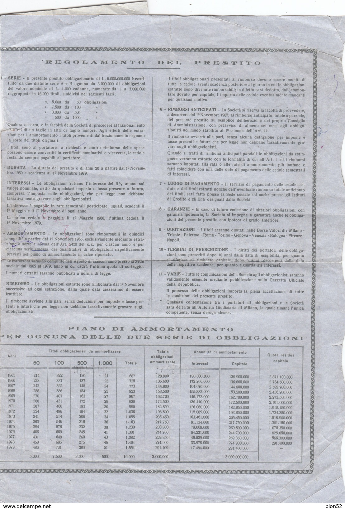 9536-LIQUIGAS-PRESTITO OBBLIGAZIONARIO - Azioni & Titoli