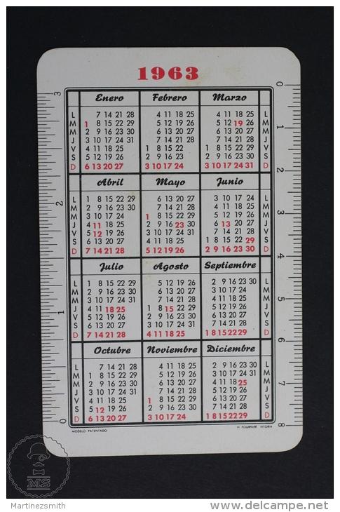Advertising Coca Cola Pocket Calendar 1963 Spain - Edited: Heraclio Fournier Vitoria, Spain - Calendarios