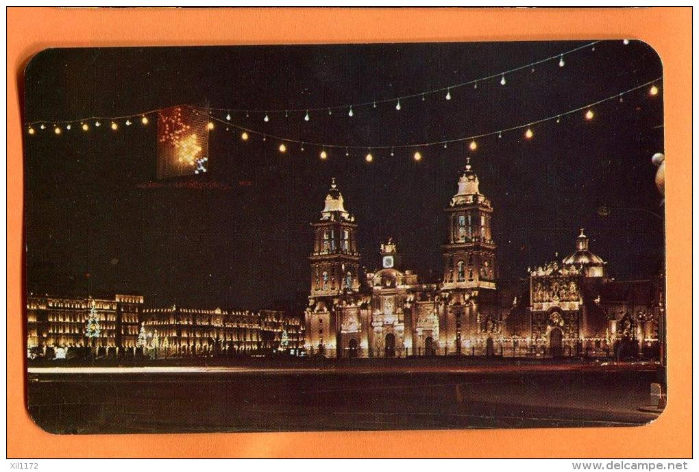EZA-14 Vista Nocturna De La Catedral Mexico Non Used. - Mexiko