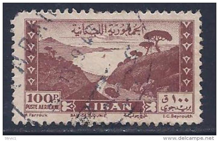 Lebanon, Scott # C125 Used Bay Of Jounie, 1947, Round Corner - Lebanon