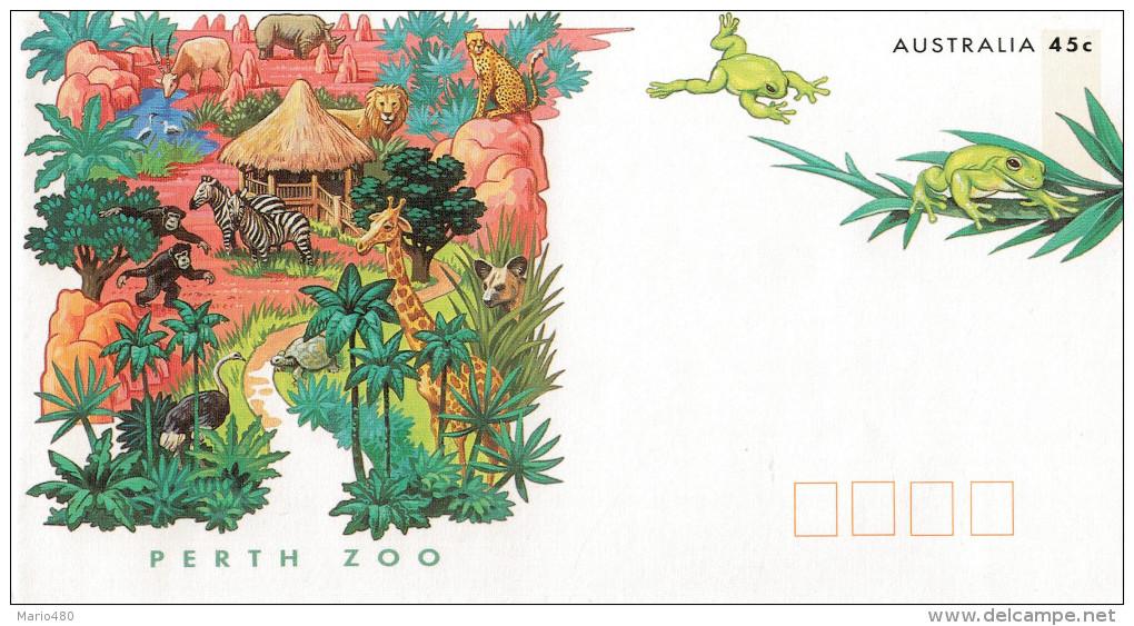 ZOOS. ENDANGERED  SPECIES     PERTH  ZOO              (NUOVA) - Interi Postali