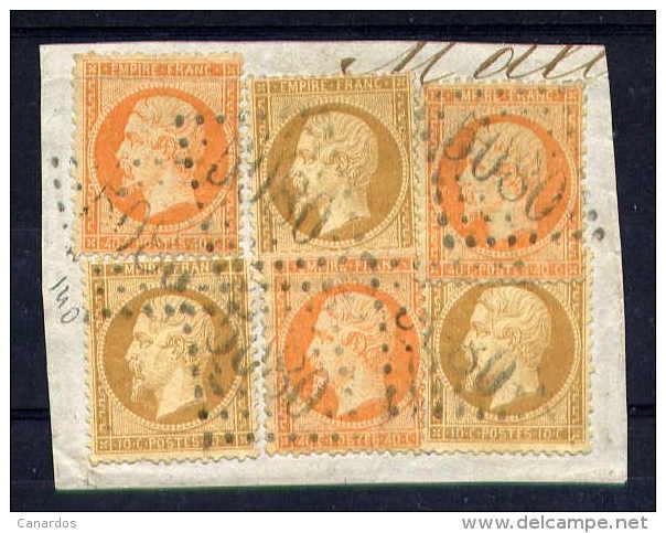 Petit Fragment De Lettre Du BFE D´Alexandrie Cachet GC 5080 - 1862 Napoleon III