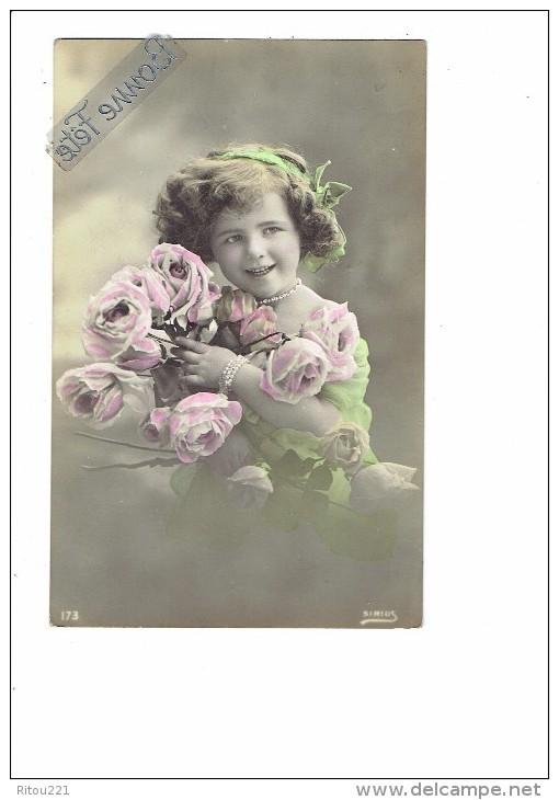 Carte Fantaisie - Fillette - Thème Mode Robe Voilage  Collier Bracelet - Coiffure Cheveux Bouclés - - 173 SIRIUS - Kinder