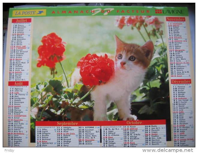 Almanach Du Facteur 1997 Département 68 En Très Bon état. Document PTT. Editions Lavigne - Calendriers