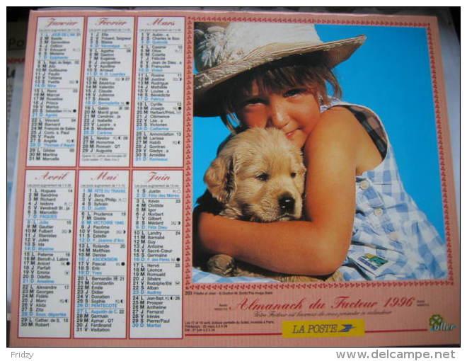 Almanach Du Facteur 1996 Département 68 En Très Bon état. Document PTT. Editions Oller - Calendriers