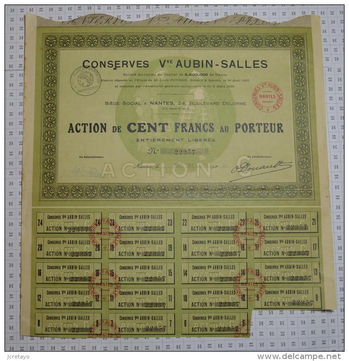 Conserves Veuve Aubin Salles à Nantes - Industrie